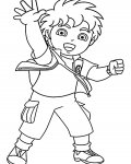 Go, Diego, Go! Free coloring pages for boys