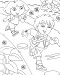Go, Diego, Go! Download and print coloring pages for kids