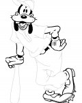 Goofy Tracing Coloring Page for kids