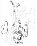 Helicopter Printable Tracing Coloring Page