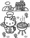 Hello Kitty Coloring Page for your Little Ones