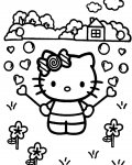 Hello Kitty Сoloring pages for girls