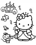 Hello Kitty Printable coloring pages for girls