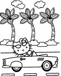 Hello Kitty Coloring page template printing
