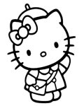 Hello Kitty Coloring Pages for boys