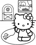 Hello Kitty Free coloring pages for boys