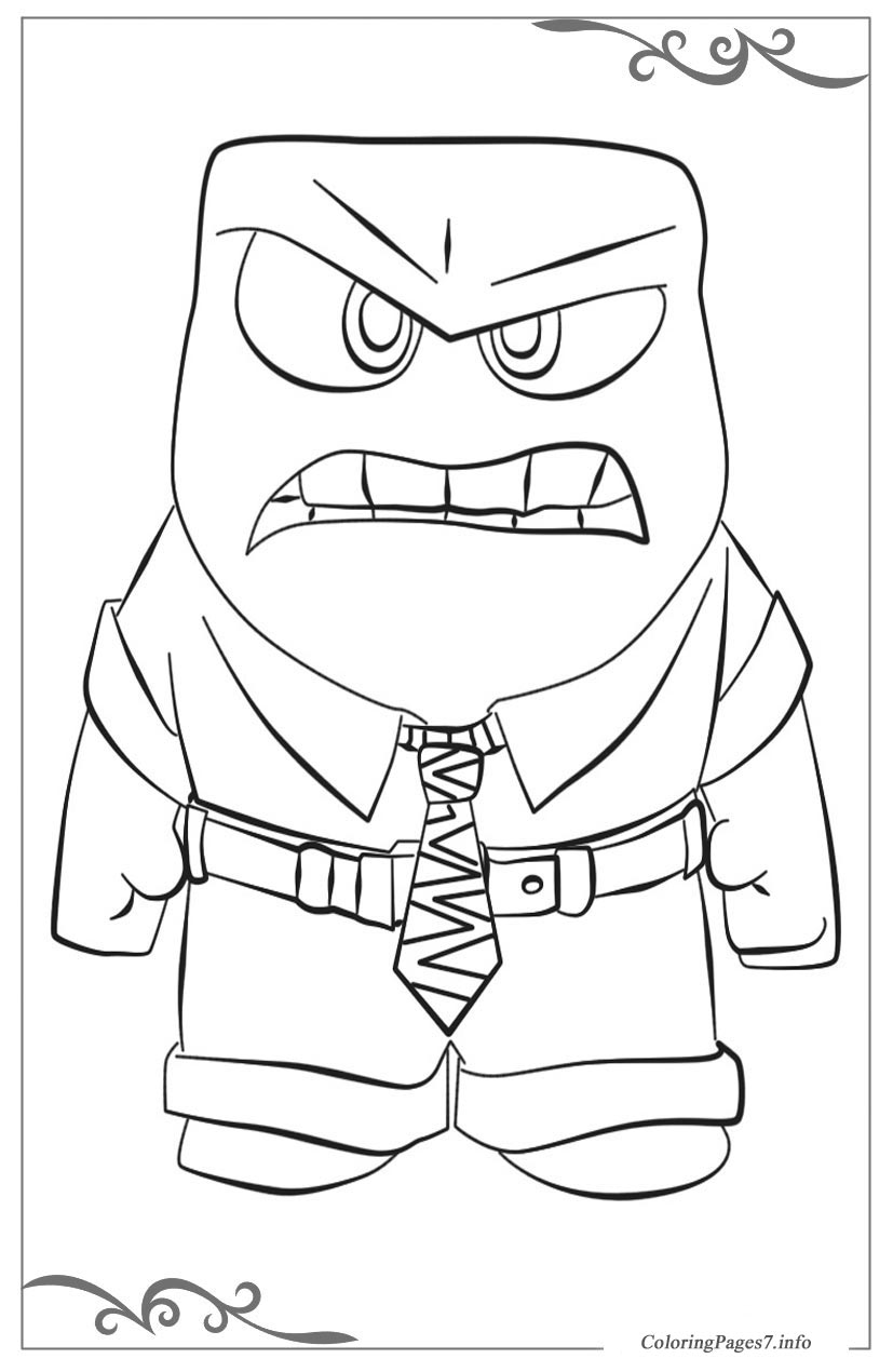 Inside Out Printable Coloring Pages For Kids