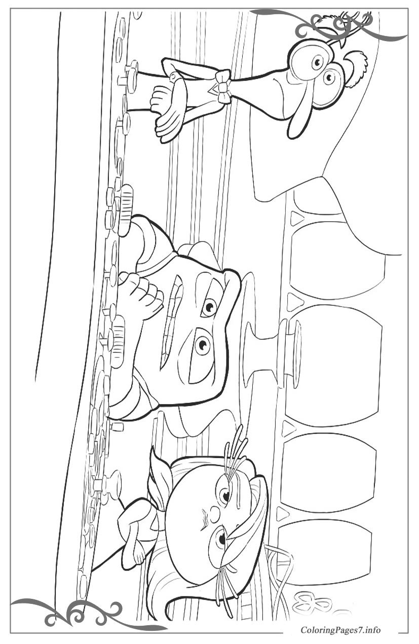 Inside Out Free Coloring Pages For Girls