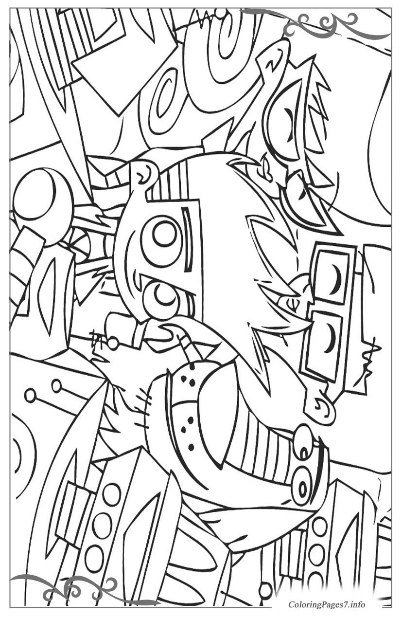 Free Coloring Pages Johnny Test, Download Free Clip Art, Free Clip ... | 1270x827