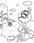 Kikoriki Printable Tracing Coloring Page
