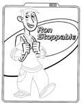 Kim Possible Free Tracing Coloring Page