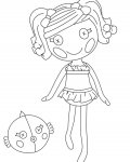 Lalaloopsy Free coloring pages for boys