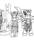 Lego Ninjago Tracing Coloring Page for kids