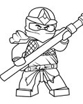 Lego Ninjago Printable Tracing Coloring Page