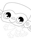 Littlest Pet Shop Free Tracing Coloring Page