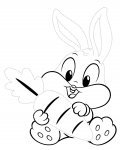 Looney Tunes Tracing Coloring Page for kids
