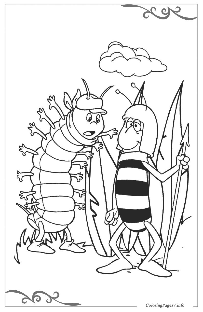maya the bee printable coloring pages for kids