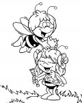 Maya the Bee Coloring Page for your Little Ones