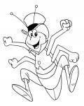 Maya the Bee Free Online Coloring Pages