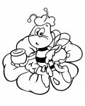 Maya the Bee Online Coloring Pages for boys