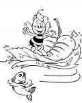 Maya the Bee Free printable coloring pages