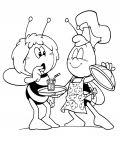 Maya the Bee Online Coloring Pages for girls