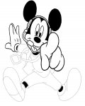 Mickey Mouse Printable Tracing Coloring Page