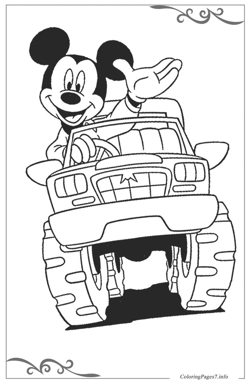 Mickey Mouse Printable Coloring Pages For Boys