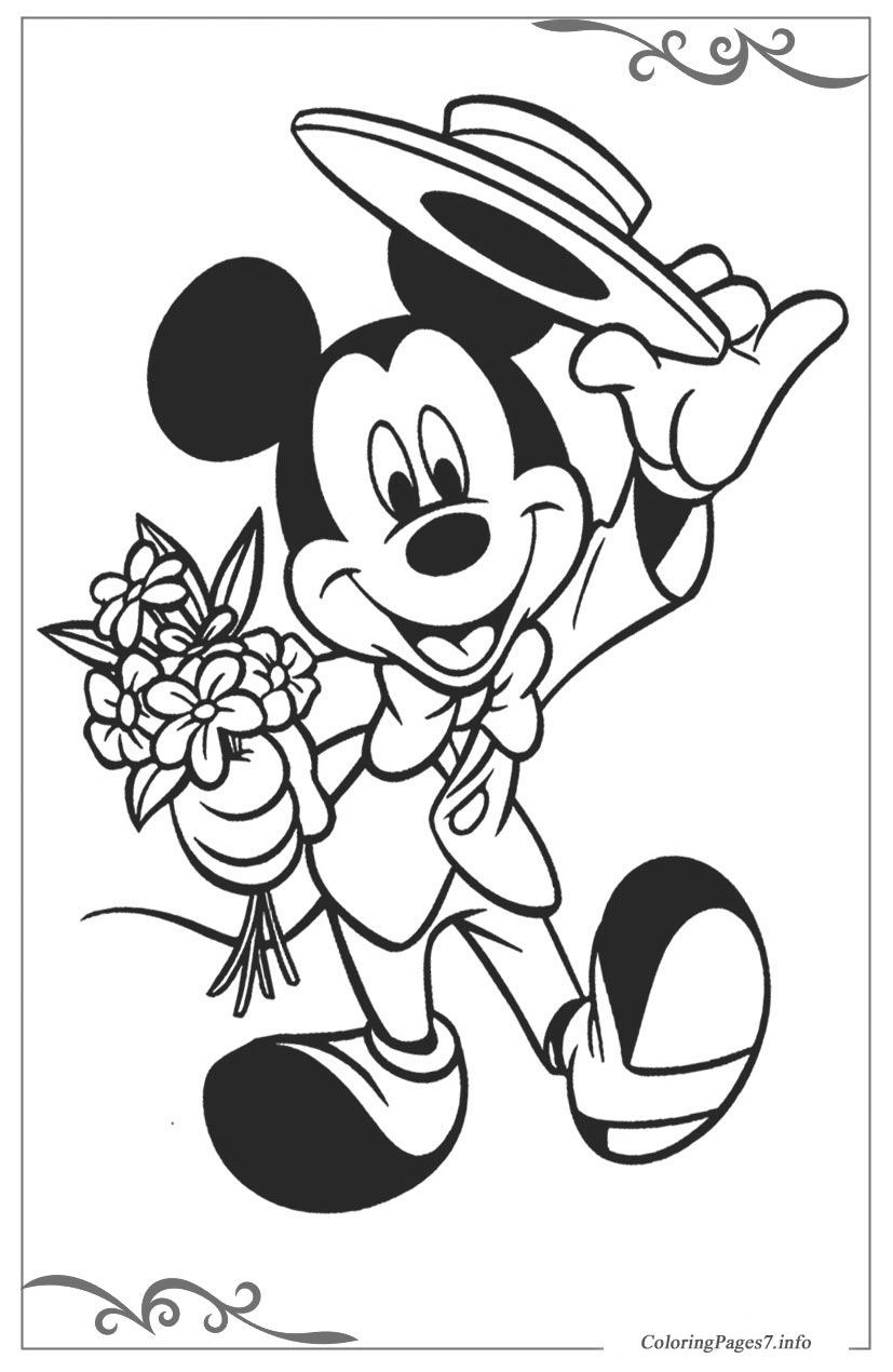 FREE COLORING PAGES: Disney Coloring Pages Mickey Mouse | 1270x827