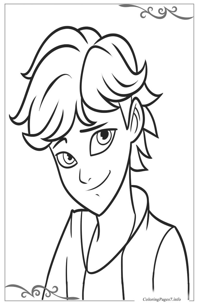 Miraculous Tales Of Ladybug Cat Noir Online Coloring Pages For Boys