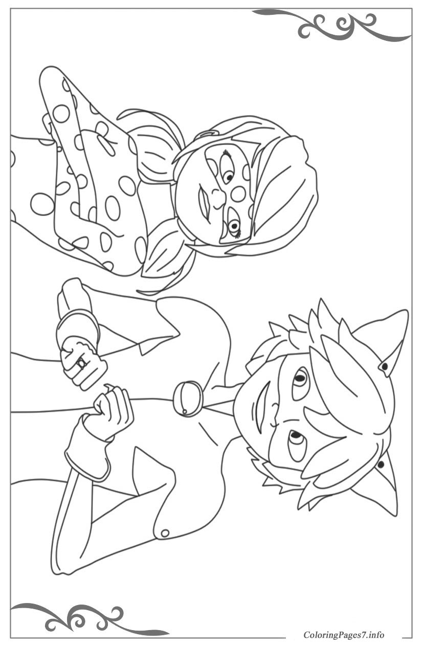 - Miraculous: Tales Of Ladybug & Cat Noir Coloring Pages For Children