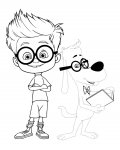 Mr. Peabody & Sherman Free Tracing Coloring Page