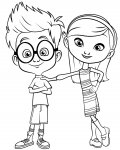 Mr. Peabody & Sherman Free printable coloring pages