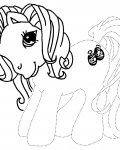 My Little Pony Tracing Coloring Page for kids