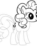 My Little Pony Printable Tracing Coloring Page