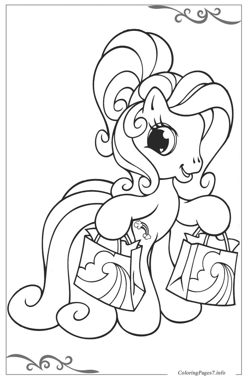 My little pony printable coloring pages online for kids for My little pony coloring pages to print out