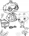Ni Hao, Kai-Lan Tracing Coloring Page for kids