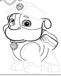 PAW Patrol Printable Tracing Coloring Page