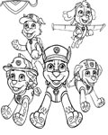 PAW Patrol Printable coloring pages online