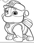 PAW Patrol Coloring page template printing