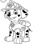 PAW Patrol Coloring Pages for boys