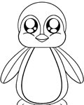 Penguins Coloring page template printing