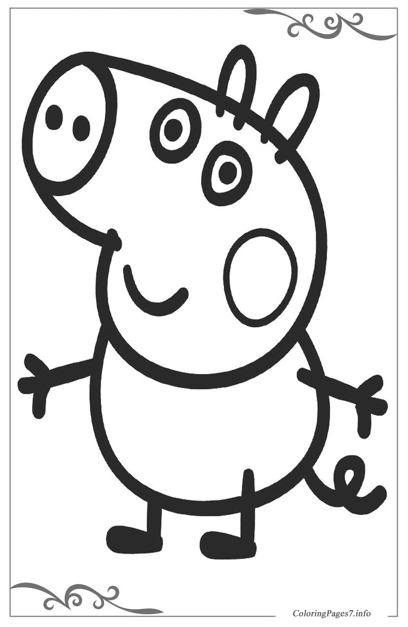 Peppa Pig Download Coloring Page for your Little Ones