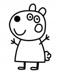 Peppa Pig Printable coloring pages for girls