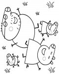 Peppa Pig Download coloring pages