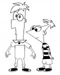 Phineas and Ferb Free printable coloring pages