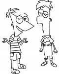Phineas and Ferb Coloring Pages for Kids