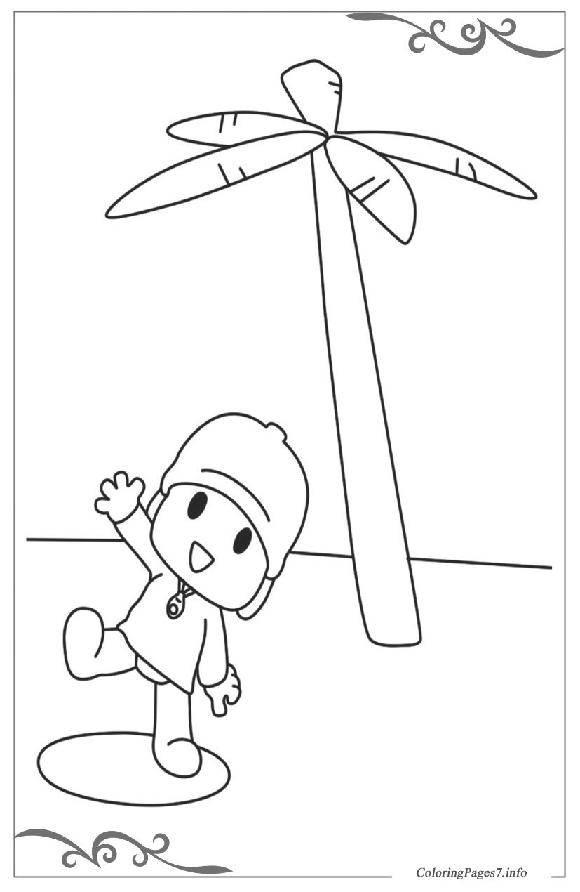 Pocoyo Download Coloring Page for your Little Ones