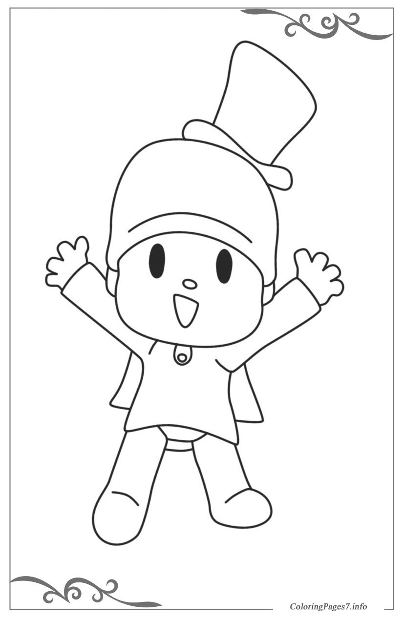 Pocoyo Free Online Coloring Pages