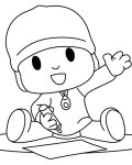 Pocoyo Coloring page template printing